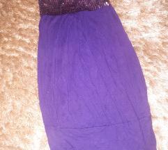 Lila csillámos felső/ruha