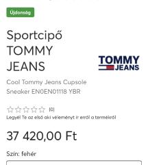 Tommy Hilfiger 38 új sportcipő bőr