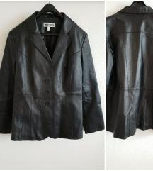Hibátlan állapotú fekete műbőr dzseki