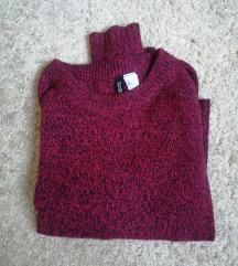 Bordó kötött pulcsi