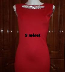 Új piros köves alkalmi mini ruha