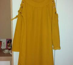 Mustár sárga ruha tunika