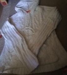 Fishbone fehér puha meleg pulcsi jelképes ár