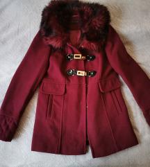 Miss Selfridge bordó szövet kabát S