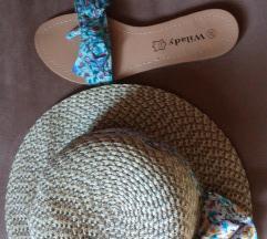virágos nyári kalap és papucs szett