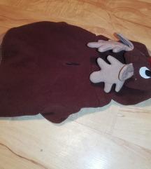 Rénszarvasos kutyaruha 20 cm háthossz