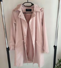Címkés rózsaszín parka jellegű kabát