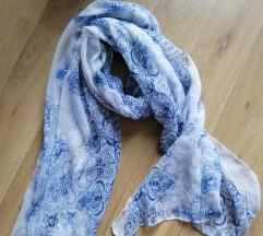 Kék/fehér sál, kendő