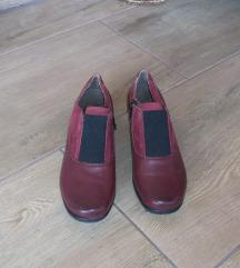 Caprice bordó bőr-velúrbőr női cipő. 37 méret.