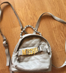 MOSCHINO steppelt szürke backpack
