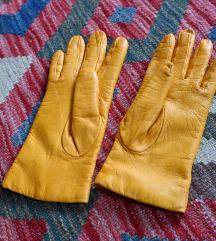 Sárga bőrkesztyű