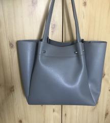 Zara szürke pakolós táska