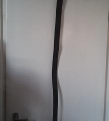 Férfi sötétbarna bőr öv, 108 cm x 4 cm