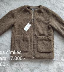 Zara xs címkés teddy kabát