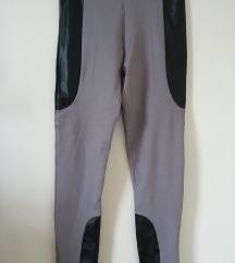 Tezenis szürke, műbőr bélésű leggings, S-es