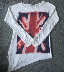 Angol zászlós hosszú ujjú póló, megkötős