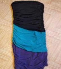 Három színű ráncolt testhez simuló partyruci