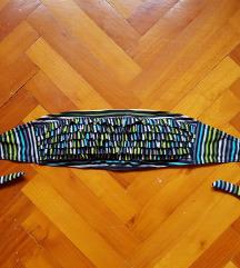 Színes fodros szivacsos bandeau bikini felső 75/C