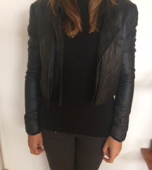 Twenty Twelve fekete bőr kabát kabátka
