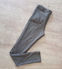 Mango, barna rugalmas pamut nadrág