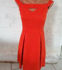 Narancssárga alkalmi ruha Cimkés