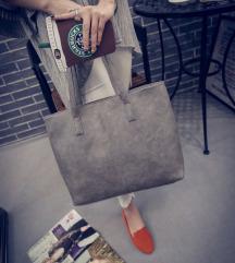 Szürke női pakolós táska