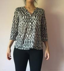 Fekete-fehér mintás ing