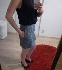 Fekete-szürke alkalmi ruha