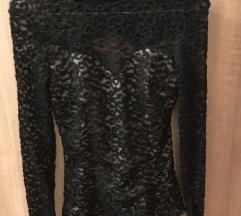 Fekete Csipkés felső