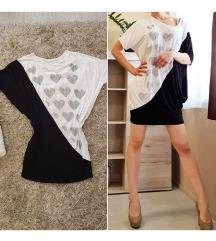 fekete fehér strasszos lepel tunika ruha