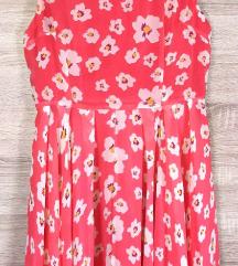 AxParis korall virágos csinos ruha (csere is)