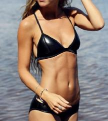 Triangl bőr bikini felső
