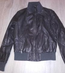 ÚJ M-L méretű barna műbőr kabát