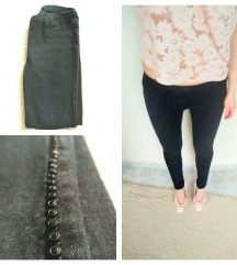 Egyedi fekete leggings nadrág (S)