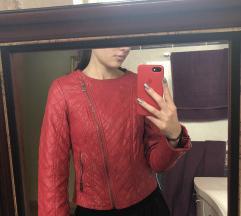 Orsay műbőr piros motoros dzseki