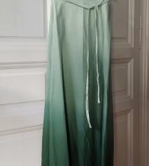 Színátmenetes zöld maxiszoknya