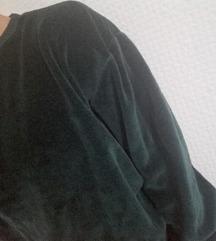Méregzöld bársony pulcsi