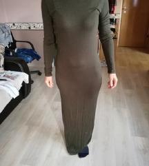 Kheki színű maxi ruha