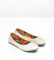 Fehér balerina cipő
