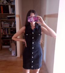 Új Zara Black Denim Dress