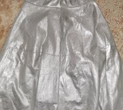 S-es ezüst színű spandex szoknya