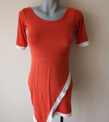 Narancs fehér ruha