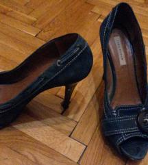 Zara kék magassarkú cipő