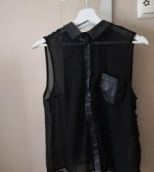 Átlátszó ing bőrbetétekkel