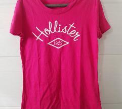 Hollister sötét pink póló, M
