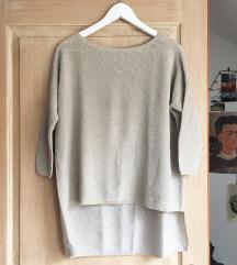 ezüstszálas kötött Zara pulcsi