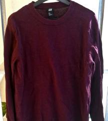 Bordó férfi h&M pulóver pulcsi L új