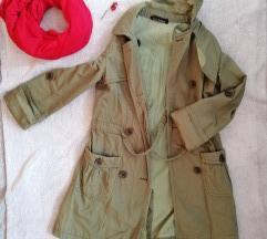Zöld átmeneti kabát