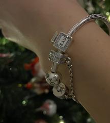 Parfüm ezüst charm Pandora karkötőre