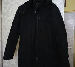 Zara fekete Warm Wear steppelt kapucnis télikabát